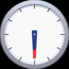 Clock Face Six-thirty facebook emoji