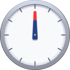 Clock Face Twelve Oclock facebook emoji