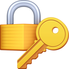 Closed Lock With Key facebook emoji