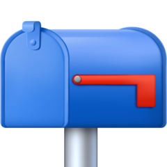 Closed Mailbox With Lowered Flag facebook emoji