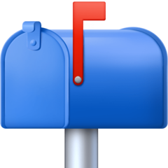 Closed Mailbox With Raised Flag facebook emoji