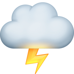 Cloud With Lightning facebook emoji