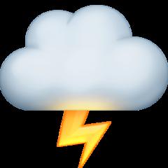 Cloud With Lightning facebook emoji
