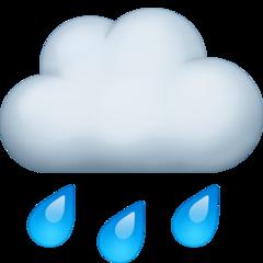 Cloud With Rain facebook emoji