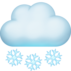 Cloud With Snow facebook emoji