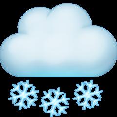 Cloud With Snow facebook emoji