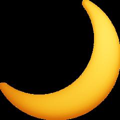 Crescent Moon facebook emoji