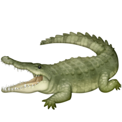 Crocodile facebook emoji