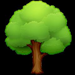 Deciduous Tree facebook emoji