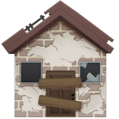 Derelict House Building facebook emoji