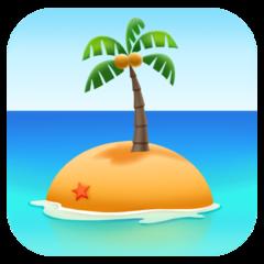 Desert Island facebook emoji