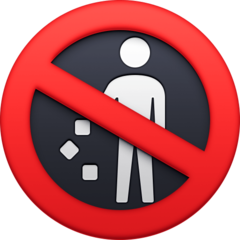 Do Not Litter Symbol facebook emoji