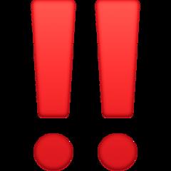 Double Exclamation Mark facebook emoji