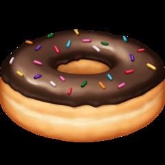 Doughnut facebook emoji