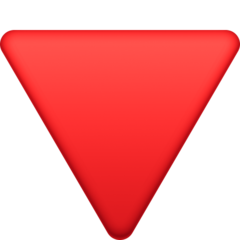Down-pointing Red Triangle facebook emoji