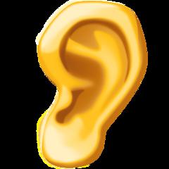 Ear facebook emoji