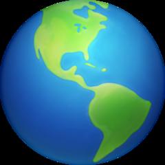 Earth Globe Americas facebook emoji