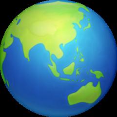 Earth Globe Asia-australia facebook emoji