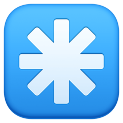 Eight Spoked Asterisk facebook emoji