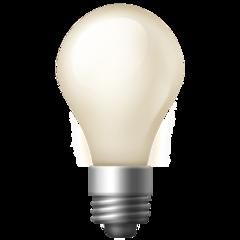 Electric Light Bulb facebook emoji