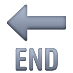 End With Leftwards Arrow Above facebook emoji