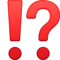 Exclamation Question Mark facebook emoji