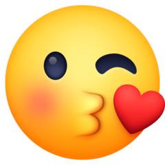 Face Throwing A Kiss facebook emoji