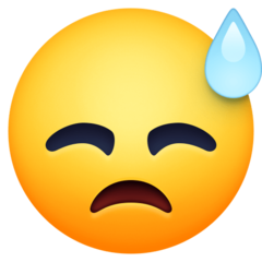 Face With Cold Sweat facebook emoji