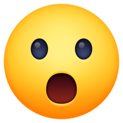 Face With Open Mouth facebook emoji