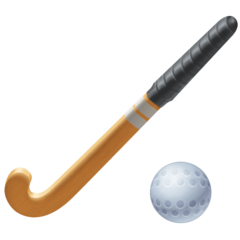 Field Hockey Stick And Ball facebook emoji
