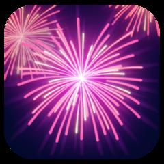 Fireworks facebook emoji