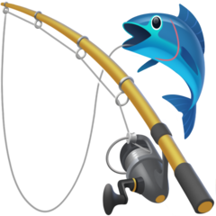 Fishing Pole And Fish facebook emoji