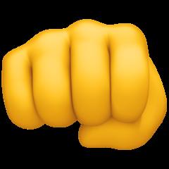 Fisted Hand Sign facebook emoji