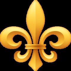 Fleur-de-lis facebook emoji