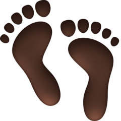 Footprints facebook emoji