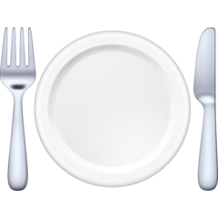 Fork And Knife With Plate facebook emoji