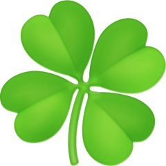 Four Leaf Clover facebook emoji