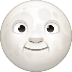 Full Moon With Face facebook emoji
