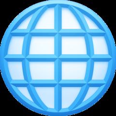 Globe With Meridians facebook emoji