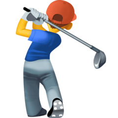 Golfer facebook emoji