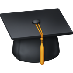 Graduation Cap facebook emoji