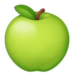 Green Apple facebook emoji