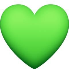 Green Heart facebook emoji