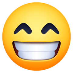 Grinning Face With Smiling Eyes facebook emoji