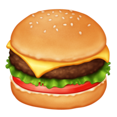 Hamburger facebook emoji