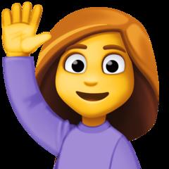 Happy Person Raising One Hand facebook emoji