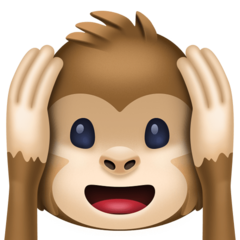 Hear-no-evil Monkey facebook emoji
