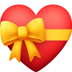 Heart With Ribbon facebook emoji