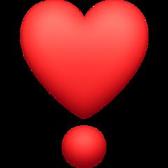 Heavy Heart Exclamation Mark Ornament facebook emoji