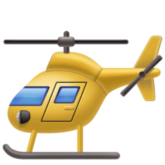 Helicopter facebook emoji